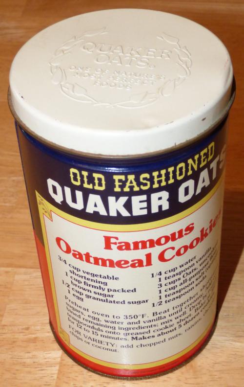 Quaker oats tin 2