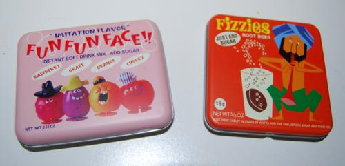 Fizzies tins