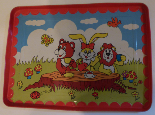 Children's animal tin tray
