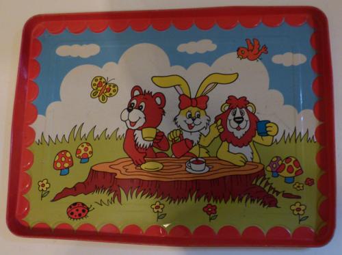 Children's animal tin tray
