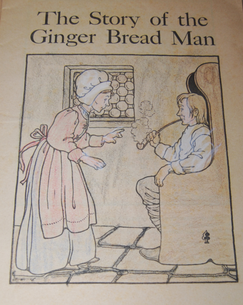 Gingerbread boy paint book 1