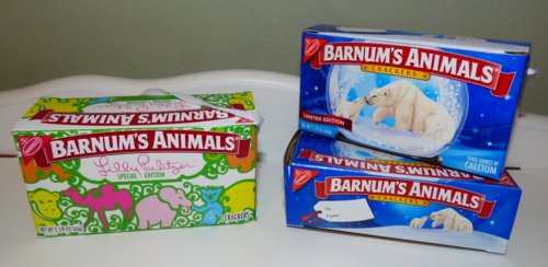 Barnum's animal crackers boxes