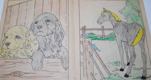 Vintage farm friends coloring book 2