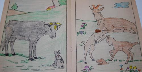 Vintage farm friends coloring book 3