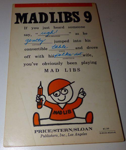 Vintage madlibs 17