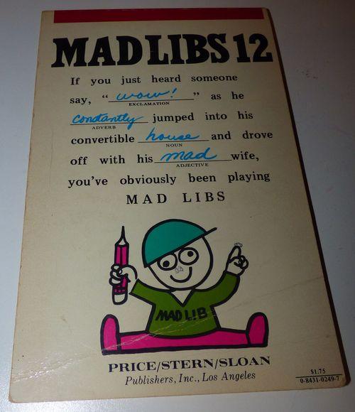 Vintage madlibs 23