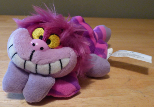 Mini cheshire cat plush 5