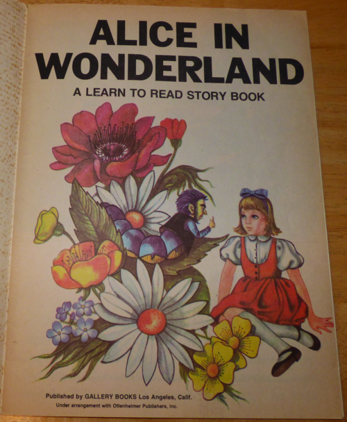Alice in wonderland learn to read 1