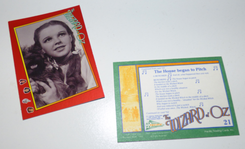 Wizard of oz trading cards 1