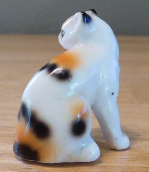 Miniature ceramic cat figurine 2