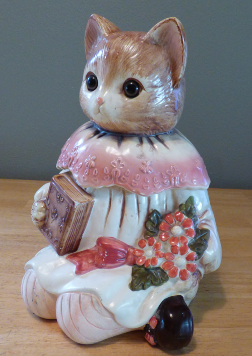 Vintage kitty cookie jar 1