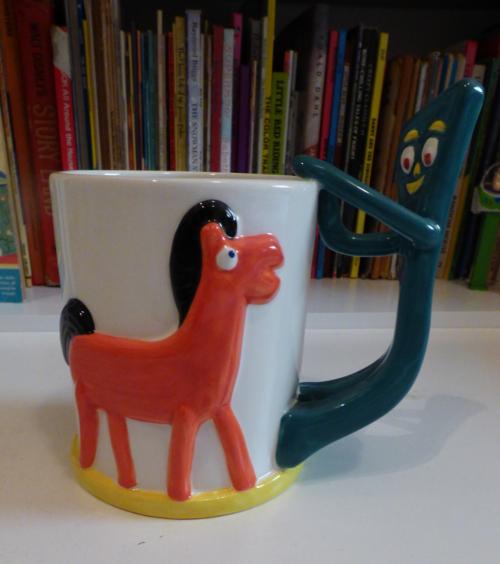 Gumby & pokey cocoa mug