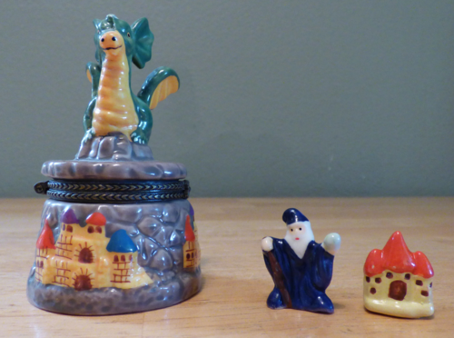 Ceramic dragon pillbox 5
