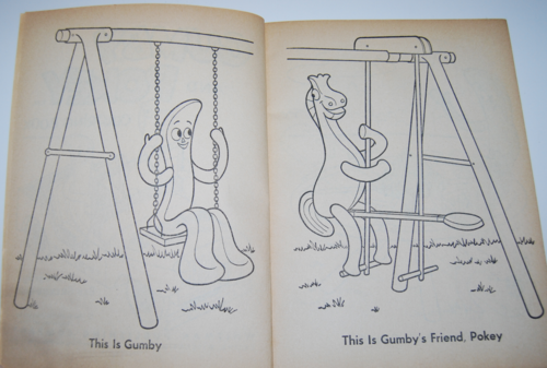 Gumby coloring book whitman 2