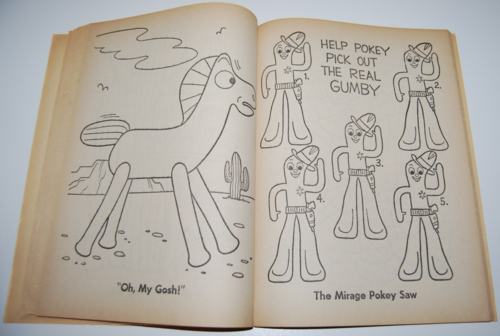 Gumby coloring book whitman 8