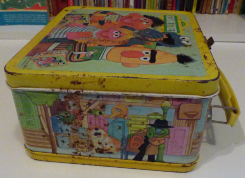 Vintage tin sesame street lunchbox 3