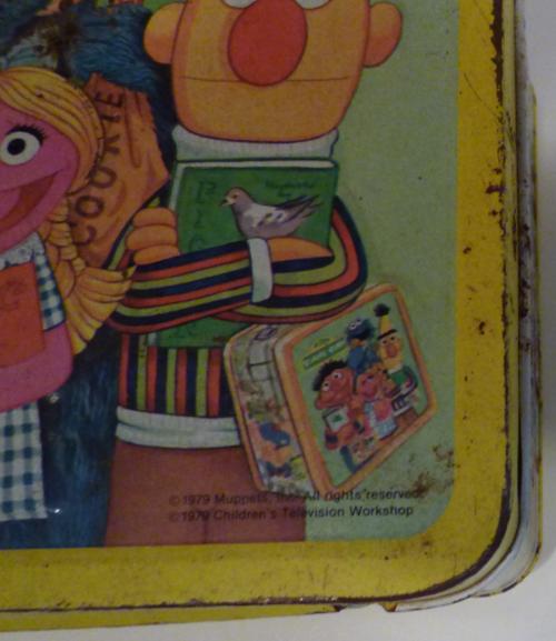 Vintage tin sesame street lunchbox 5