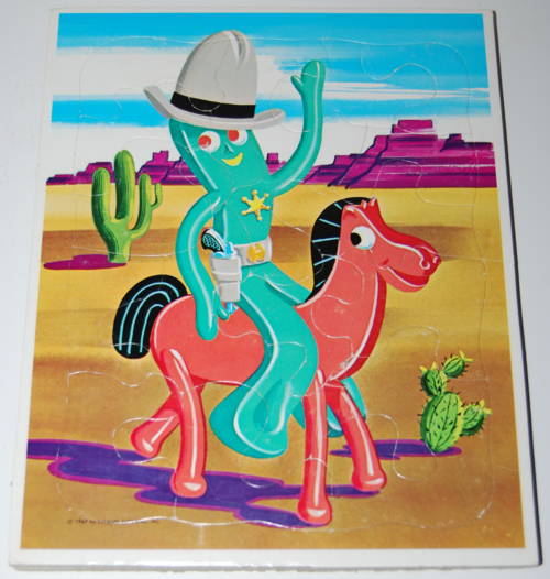 Gumby puzzle lakeside 1967 2