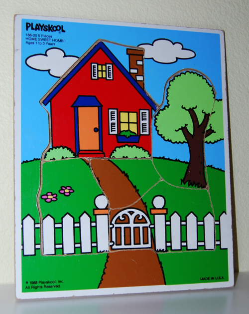 Playskool home sweet home wooden puzzle 1988