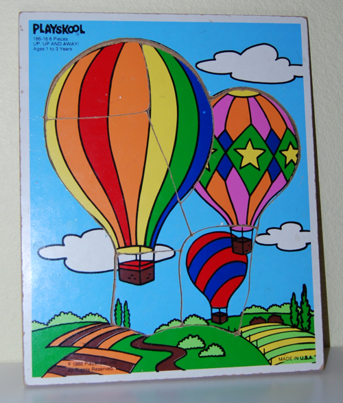 Playskool up up and away wooden puzzle 1988