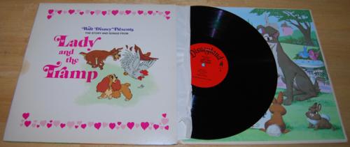 Disney lady & the tramp vinyl lp 1