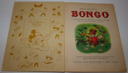 Bongo mickey mouse club book 1