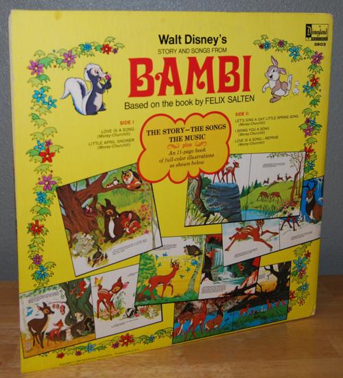 Disney bambi vinyl lp x