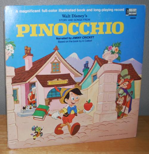 Disney pinnochio vinyl lp 1
