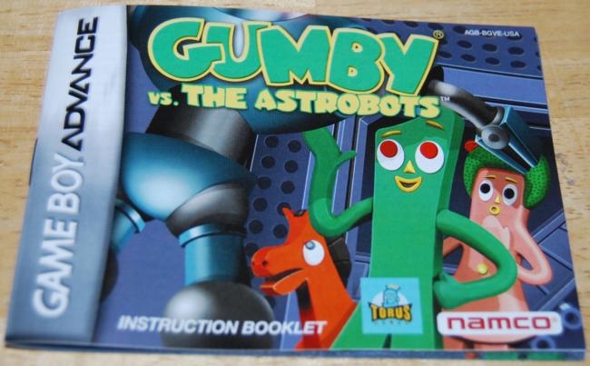 vintage videogames ~ gumby vs the astrobots