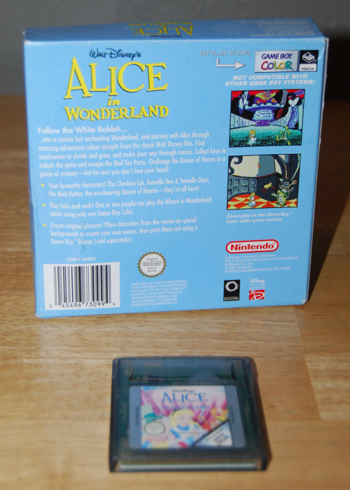 Alice in wonderland gameboy color game 1