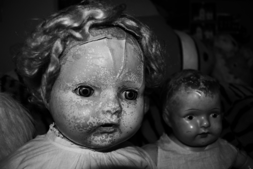 Antique dolly bw x