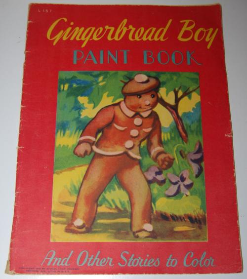 Gingerbread boy paint book