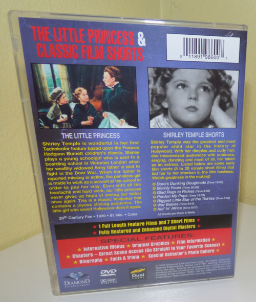 Shirley temple dvd x