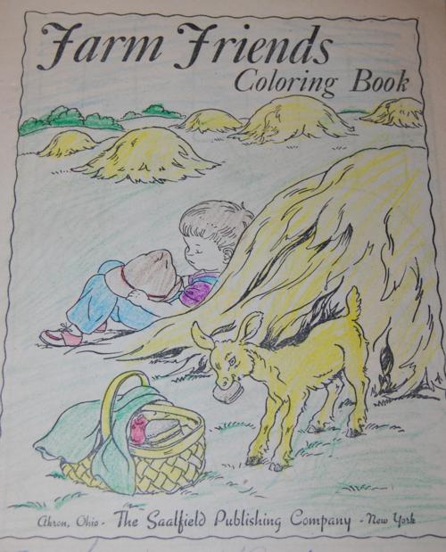 Vintage farm friends coloring book 1
