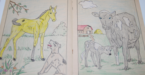 Vintage farm friends coloring book 4