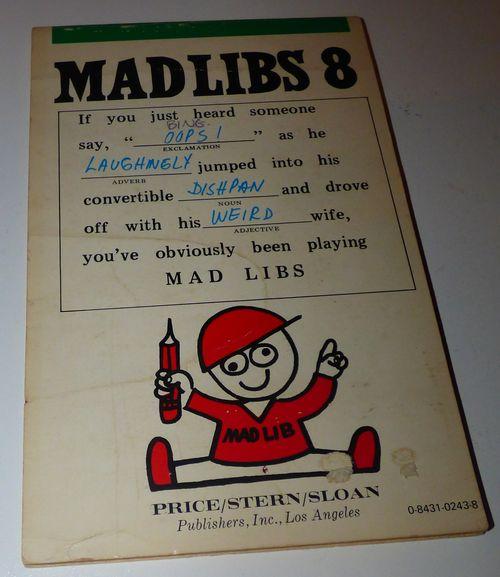 Vintage madlibs 13