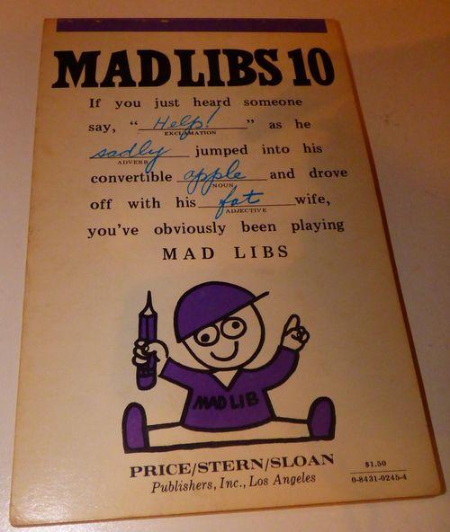 Vintage madlibs 20