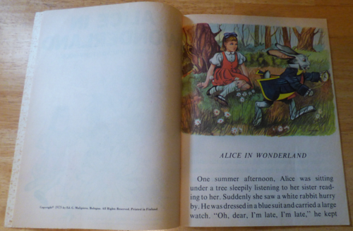 Alice in wonderland learn to read 2
