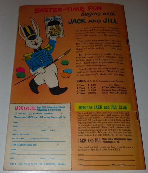 Jack & jill march 1958 x