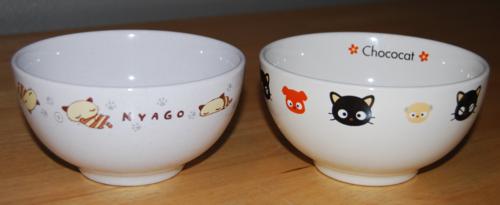 Chococat & nyago bowls