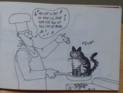 Kliban cat clothback first edition 3