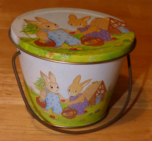 Easter tin bucket x