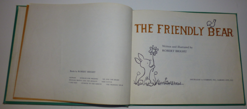 The friendly bear book