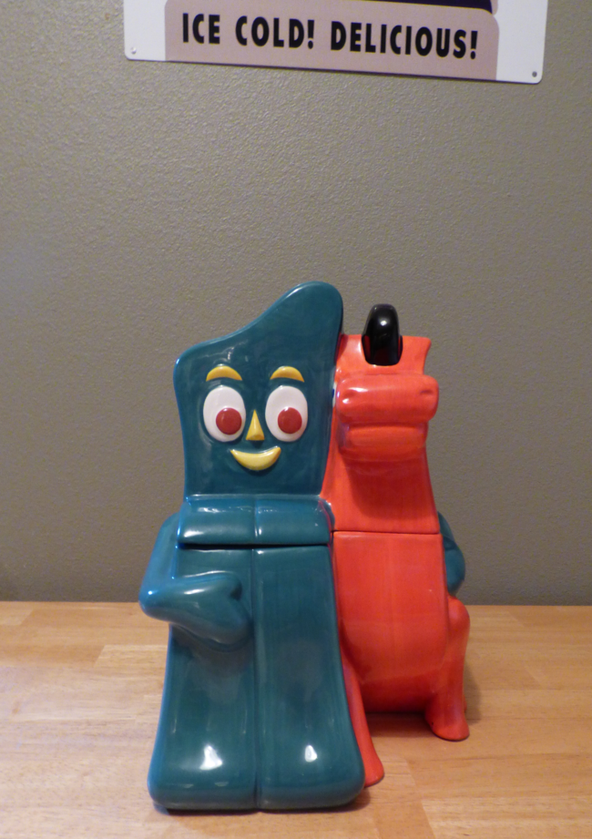 gumby & pokey cookie jar