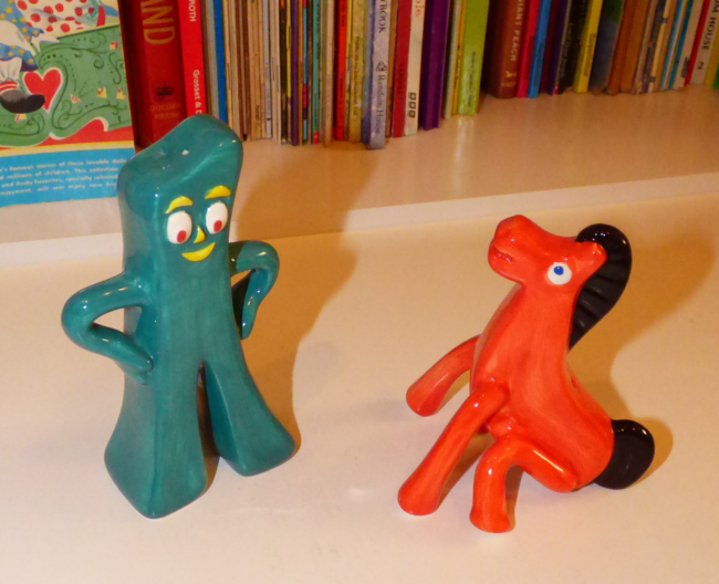 gumby & pokey salt & pepper shakers