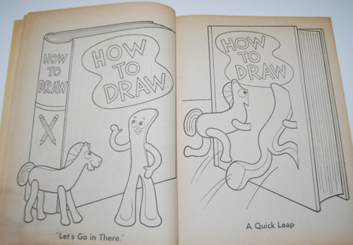 Gumby coloring book whitman 5