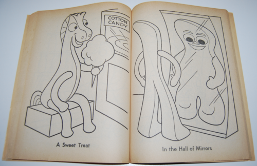 Gumby coloring book whitman 10
