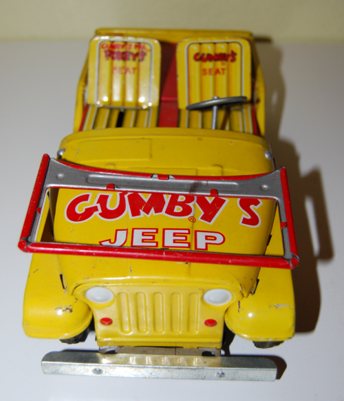 Gumby tin jeep lakeside 1