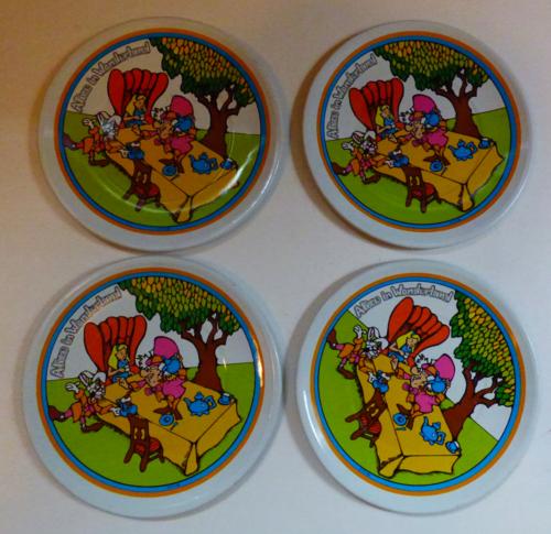 Alice in wonderland tin plates vintage