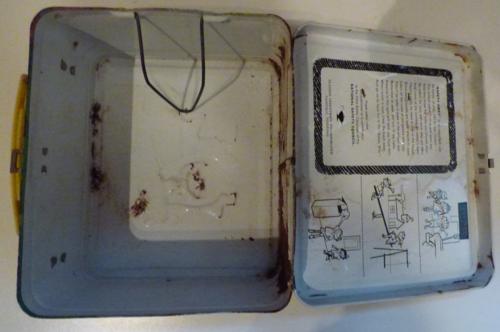 Vintage tin sesame street lunchbox 6